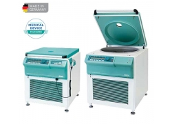 Купить медицинскую центрифугу для банка крови Медицинская центрифуга ROTO SILENTA 630 RS расположена на полу без ротора, рефрижераторная